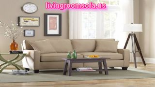 Awesome Cream Apartement Sectional Sofa