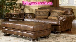Red Leather Ashley Furniture Living Room Sets