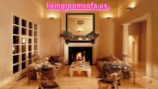 Beautiful Living Room Lighting With Warm Colour Design Ideas Plus Fireplace And Large Wall Mirror Decoration Design Ideas