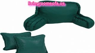 Bedrest Back Support And Corded Throw Pillows Set