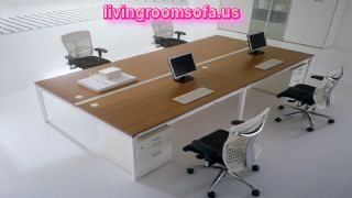 Big And White Table Contemporary Italian Office Furniture