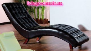 Black Contemporary Chaise