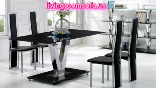 Black And Modern Contemporary Dining Room Tables For Livingroom