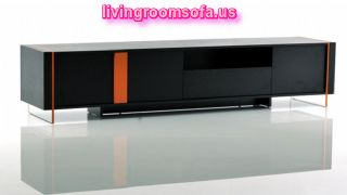 Black And Orange Contemporary Modern Tv Stands In Livingroom
