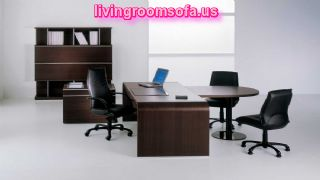 Black Modern Executive Office Furniture Concept