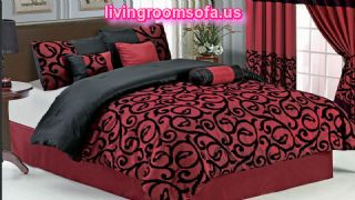 Candice Burgundy 11pcs Bed In A Bag