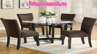 Casual Dining Sets For Dining Room Furniture Round And Brown Chairs
