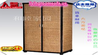 China Rattan Wardrobe Cab Furniture Design
