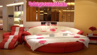 Circle Red And White Cool Bedroom Chairs