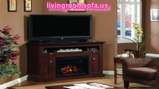 Classic Corner Electric Fireplace With Tv Stand Image