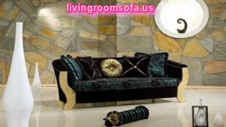 Classical Couch Black Fabric Round And Cube Pillows