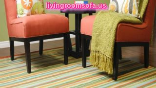 Colored Stripes Area Rugs For Living Room