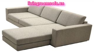 Contemporary Apartment Size Sectional Sofa