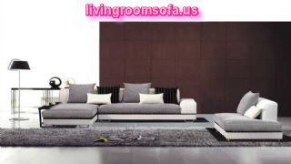 Contemporary Fabric And Leather Match Sofa