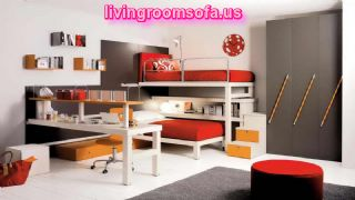 Contemporary Kids Furniture With Gray Carpet