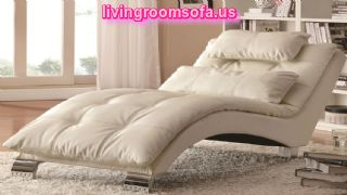 Contemporary Plush Pillow Top Chaise Ivory