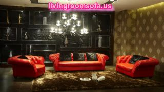 Contemporary Red Leather Living Room Inspiration Furniture Inspiration
