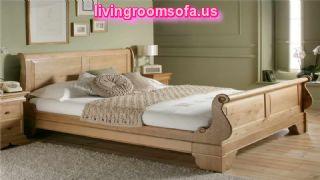 Cool Oak Bed Frames With Grey Carpet