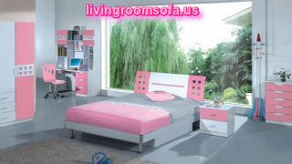 Cool Pink Bedroom Set For Girls