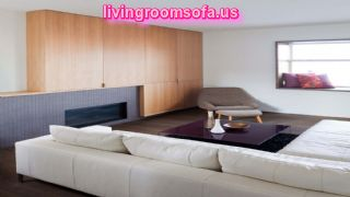 Cool White Sectional Sofa With Cushions For Apartement