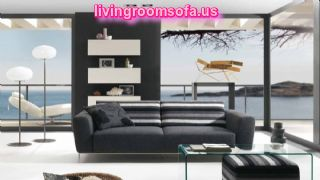 Dark Gray Couch Living Room Black Interior Decoration