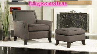 Darkgray Modern Side Chairs For Living Room With Ottoman