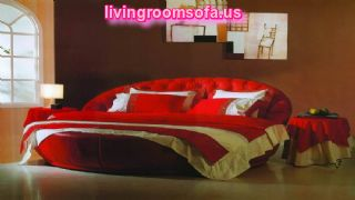 Decorating A Bedroom Around With A Red Round Bed Round Bed