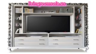 Different Style Tv Furnishing System In Livingroom