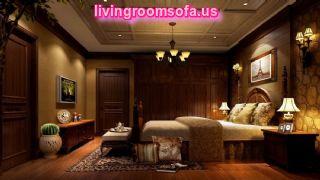 Extraordinary Dark Brown Classic Bedroom Design Rendering Night