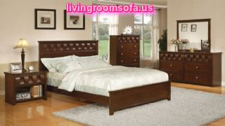Fabulous Modern Style Wooden Accents Cheap Bedroom Furniture Ideas