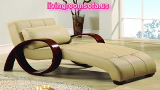 Fantastic Cream Indoor Chaise Lounge With Cushion