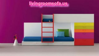 Fantastic Kids Furniture Bunk Bed Rainbow Storage Modern Design Ideas