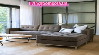 Fascinating Tufted Nail Button Seat Apartment Sectional Sofa
