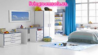 Fine Childrens Furniture With Blue Curtain