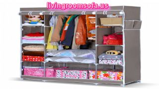 Folding Wardrobe Closet Clothes Storage Organizer Portable