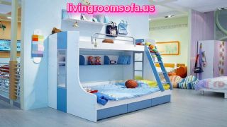 Funky Cool Kids Bedroom Furniture For Boys Design Ideas With Simple Blue Paint Color Ideas Also Creative Bookshelf Design