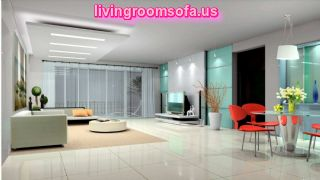 Futuristic Open Living Room Apartment With Recessed Ceiling Light Living Room Ceiling Lights Ideas