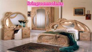 Gina Salome Marble Italian Classic Lacquer Bedroom Set