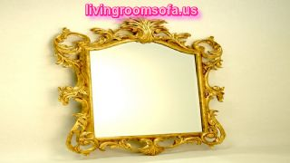 Gold Frame Hand Carved Mirror