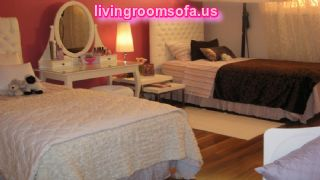 Gorgeous Twin Beds Teen Girls Bedroom Ideas Oval Mirror Dress Table Ideas