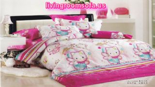 Hello Kitty Girl Bedroom Cotton Bed In A Bag