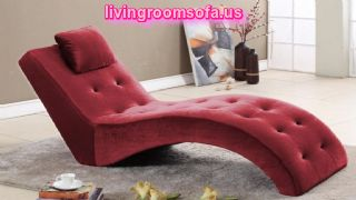 Interesting Red Tufted Indoor Chaise Lounge Design