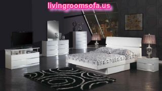 Italian Design Aurora White Global Bedroom Furniture