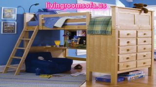 Kenai Loft Bed With Dresser