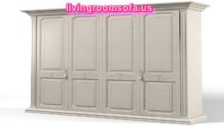 Large 4 Door Bedroom Armoire Wardrobe