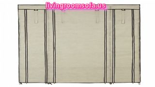 Large Strong Style Beige Color Cheap Style Wardrobe Armoires Designs