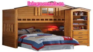 Like A House Style Cool Bunk Beds With Storage For Kids Bedroom