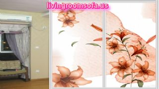 Lily Wardrobe Sliding Door Flower Patterned