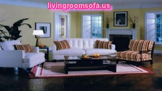 Living Room Accent Chairs And White Sofa