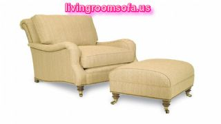 Luxurious Living Room Idea Chair With Ottoman